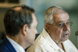 José Ramón López Regueiro speaks during a press conference in Coral Gables, Florida on Wednesday, September 25, 2019. The Cuban exile has filed a Helms-Burton suit against American Airlines and LATAM Airlines Group. (AP Photo/Brynn Anderson)José Ramón López Regueiro speaks during a press conference in Coral Gables, Florida on Wednesday, September 25, 2019.