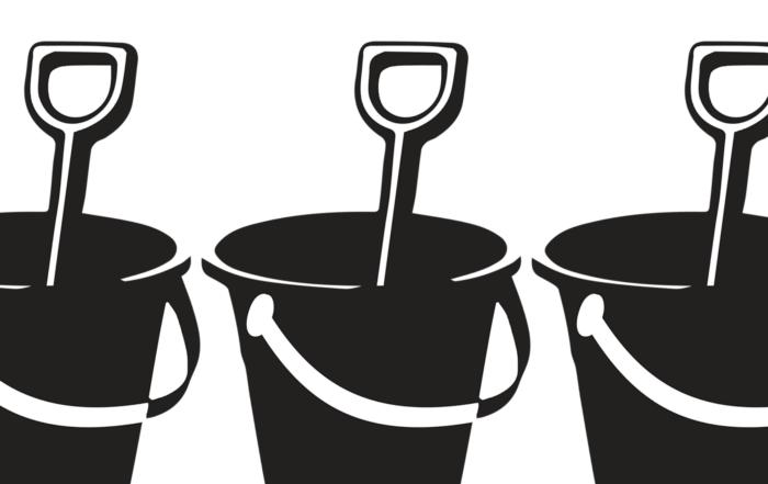 Clark vs Miami Beach - bucket and spade illustration