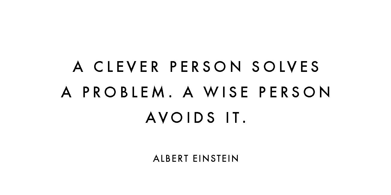A-CLEVER-PERSON-SOLVES-A-PROBLEM-A-WISE-PERSON-AVOIDS-IT